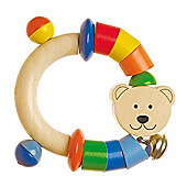 Heimess 762820 Wooden Elasticated Touch Ring Rattle (Bear)