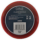 Tesco Red Plastic Bowls 14 Pack