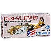 Focke-Wulf FW-190 German Luftwafe WWII Fighter Interceptor - 16.5 Wing Span - Guillow's