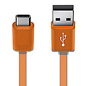 Orzly USB 2.0 Type C (USB-C) to Type A (USB-A) Cable (1M) for OnePlus 2, Nokia N1 Tablet, Lenovo Zuk Z1, and Other Type-C Supported Phones.