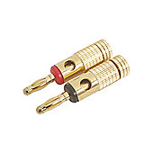 4mm Gold Plated Audio Speaker Banana Plug Connector Red