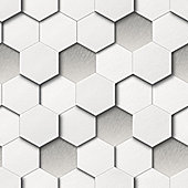 Muriva Honeycomb Wallpaper - White