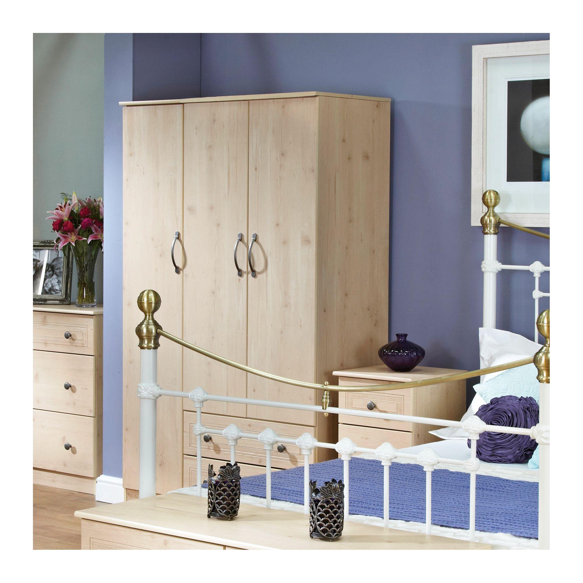 Welcome Furniture Florida 2 Drawer Wardrobe - 197cm H x 74cm W at Tesco Direct