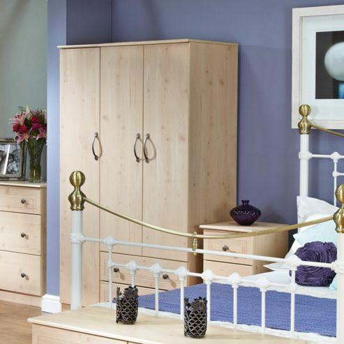 Welcome Furniture Florida 2 Drawer Wardrobe - 197cm H x 74cm W