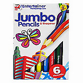 The Entertainer 6 Jumbo Pencils and Sharpener
