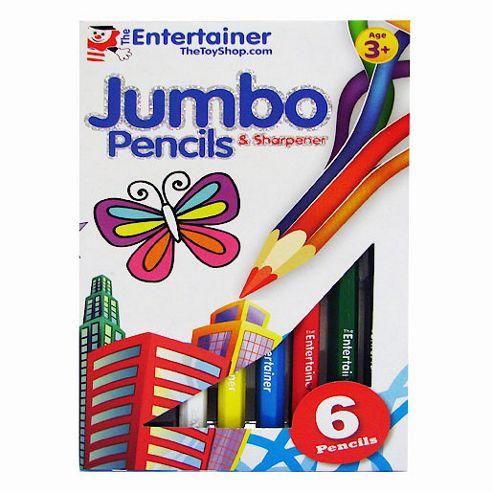 The Entertainer 6 Jumbo Pencils and Sharpener