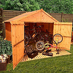 BillyOh 300 4 x 7 Apex Tongue and Groove Bike Store Mini Shed