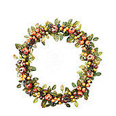 Dusted Fruit Christmas Door Wreath