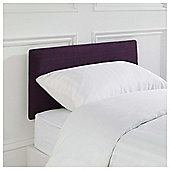 Seetall Mittal Headboard Linen Effect Aubergine Fabric Single