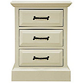 Ultimum Hambleton Off White 3 Drawer Bedside Cabinet