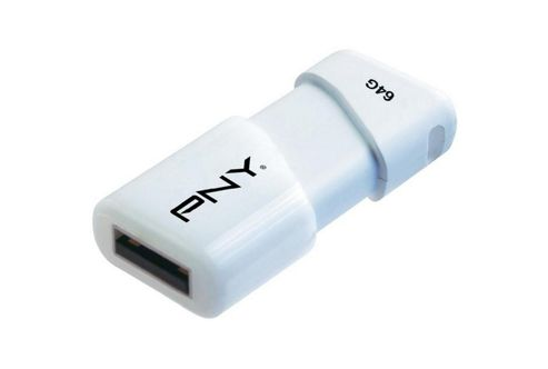 PNY Compact Attache (64GB) USB Flash Drive (White)