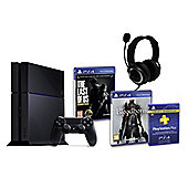 PS4 (Black) With BloodBorne, The Last of Us, GP3 Headset, PSPlus (3Mth)