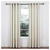 Tesco Ticking Stripe Lined Eyelet Curtains - Natural