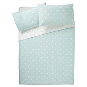 Tesco Basic Spot Print Duvet Set Double Aqua
