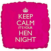 18' Keep Calm Hen Night Foil (each)