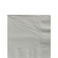 Silver Beverage Napkins - 3ply Paper