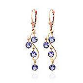 QP Jewellers 4.0ct Tanzanite Dream Catcher Earrings in 14K Rose Gold