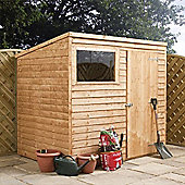 8ft x 6ft Overlap Pent Wooden Shed