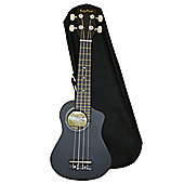 Bugs Gear Lorenzo Ukulele with Bag - Black