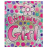 Pink Birthday Girl Holo bag - med