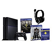 PS4 (Black) With BloodBorne, The Order 1886, GP3 Headset, PSPlus (3Mth)