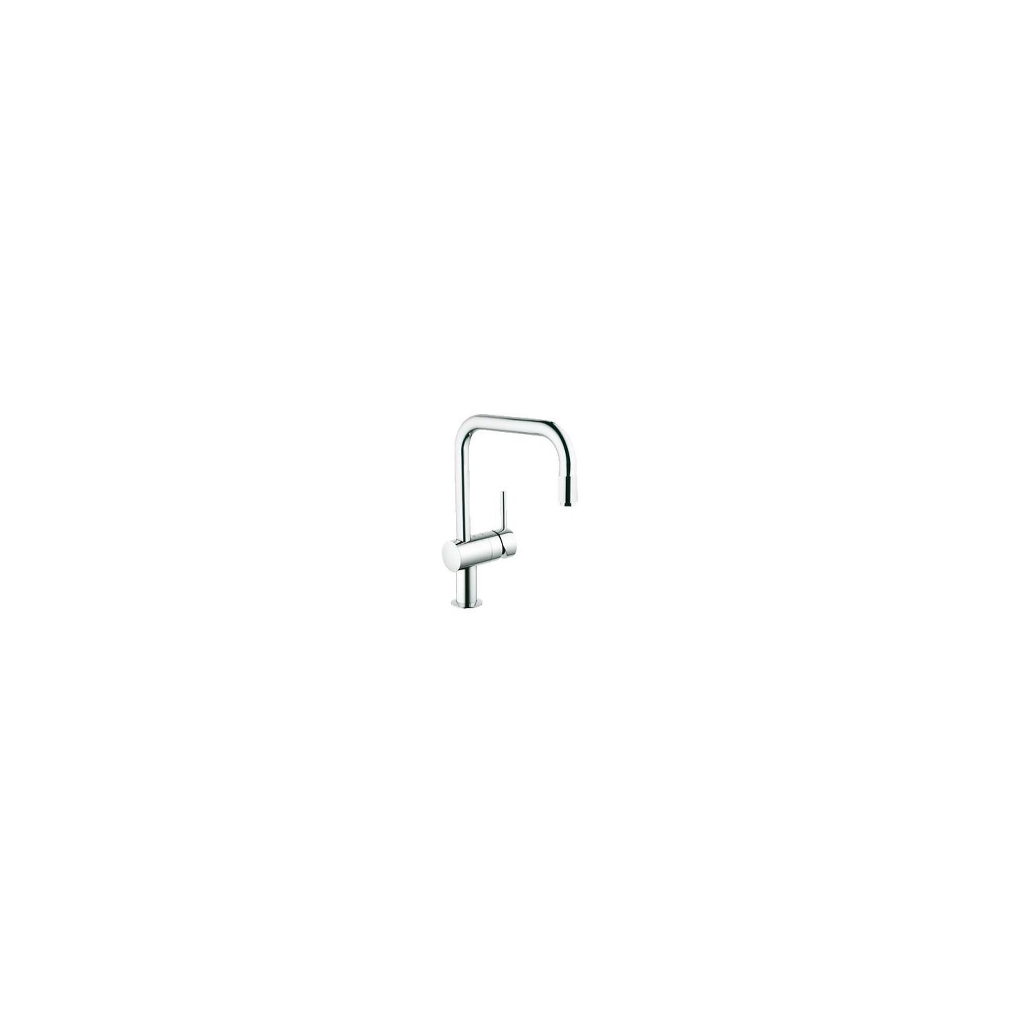 Grohe Minta Mono Sink Mixer Tap, Pull-Out U-Spout, Single Handle, Chrome at Tesco Direct