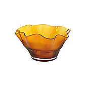 Linea Amber Handkerchief Bowl In Amber