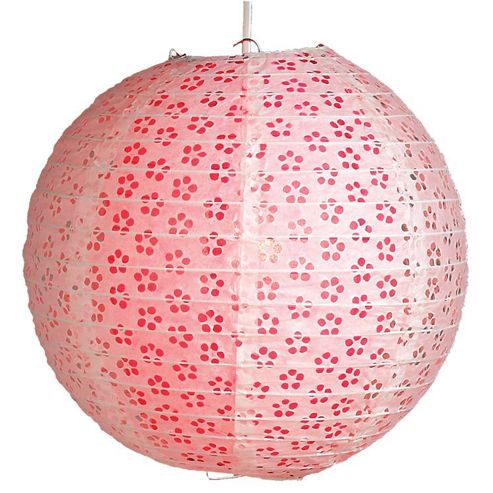 Loxton Lighting Eyelet Lantern (Set of 2) - Fushia