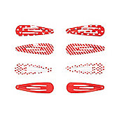 Mothercare Young Girls Red Click Clack CLips - 8 Pack
