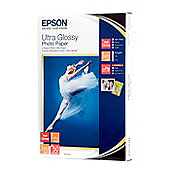 Epson (10 x 15cm) Ultra Glossy Photo Paper (50 Sheets) 300gsm (White)