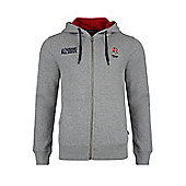 England Rugby Number 15 Zip Up Hoody - Grey