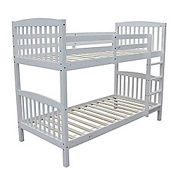 Homegear 3Ft Solid Pine Wooden Bunk Bed - Can Split Into 2 Single Beds White