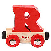 Bigjigs Rail Rail Name Letter R (Red)