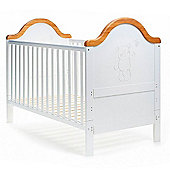 Obaby B is for Bear Cot Bed - White with Pine Trim