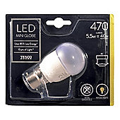 Tesco LED Star Classic Mini Globe 40W B22 Bayonet Cap Light Bulb