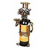 Cat Chef - Handmade Metal Recycled Wine Bottle Holder