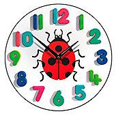 Smith & Taylor Ladybird Children's Wall Clock