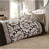 Catherine Lansfield Victoriana Double Bed Cotton Rich Quilt Set Black