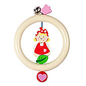 Heimess 735390 Wooden Ring Rattle (Mrs Gnome)