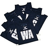Gilbert Netball Bibs - Royal blue & White