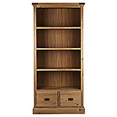 Portobello 2 Drawer Bookcase Rustic Pine