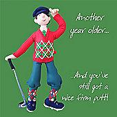 Holy Mackerel Birthday nice firm putt Greetings Card
