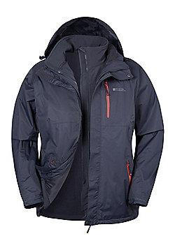 Bracken Extreme 3 in 1 Mens Waterproof Jacket - Grey