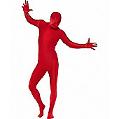 Second Skin Suit Red - Adult Costume Size: 38-40