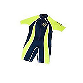 Jakabel Front Zip Shorty Wetsuit Navy/Neon 12-13 Years
