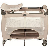 Graco Contour Electra Storage Travel Cot (Sand)