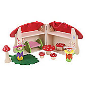 Bigjigs Toys BJ681 Mini Mushroom House Playset