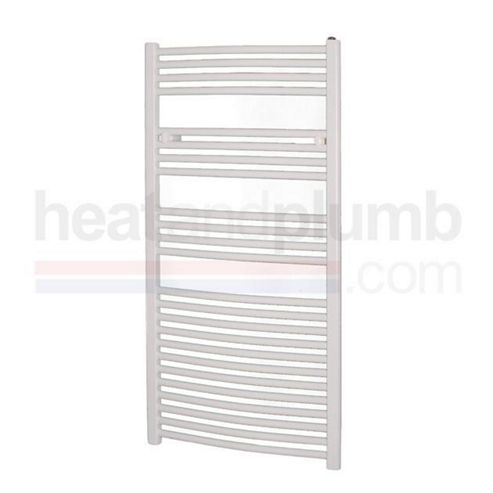 Radox Premier Straight Designer Towel Rail White 1200mm High x 500mm Wide