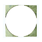 THE REAL PAVING COMPANY SANDRINGHAM  CIRCLE SQUARING OFF KIT 1.8M GRAPHITE