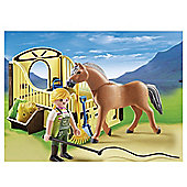 Playmobil Country Work Horse With Stall